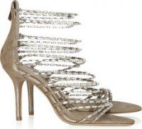 Jimmy Choo - Lauren diamante and suede sandals