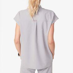 Womens Rafaela - Mandarin Collar Scrub Top