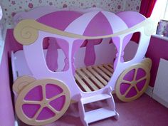 Princess carriage bed by thelittlebedcompany, via Flickr