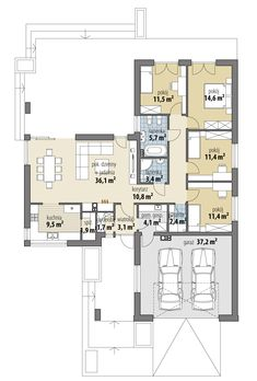 Nela IV Beautiful House Plans, Beautiful Homes, Architect House, Small House Plans, Cool House Designs, Modern Kitchen Design, Planer, Beach House, Home Goods