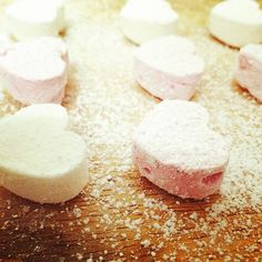 Marshmallow love hearts - by Iona Hart x #gourmet #marshmallows #valentines #dessert #loveheart #sweettooth #candy