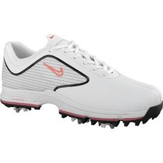 Womens Nike Lunar Golf Cleats White Fiber - ONLY $155.00