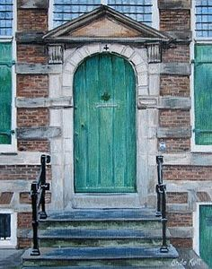And some doors are irresistible because of who walked through them...The door of Rembrandt, in Amsterdam