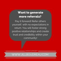 How to generate more referrals from the #REexpert