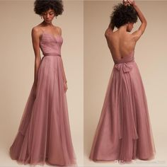 2017 Sexy Long Tulle Blush Bridesmaid Dresses Spaghetti Strap Cheap Country Bridesmaid Dress With Low Back Convertible Dress Party Gowns Bridesmaid Dresses Blush Bridesmaid Dresses Bridesmaids Dress Online with $99.43/Piece on Fashionhouse2020's Store | DHgate.com