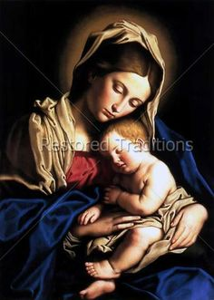Il Sassoferrato Madonna and Child print for sale. Shop for Il Sassoferrato Madonna and Child painting and frame at discount price, ships in 24 hours. Madonna Und Kind, Madonna And Child, Blessed Mother Mary, Blessed Virgin Mary, Happy Mothers, Mary Jesus Mother, Religious Icons, Religious Art, Orazio Gentileschi