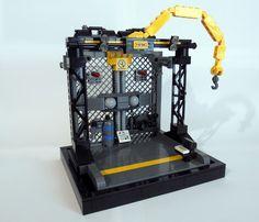 Mech bay by Gregory St Lego Mechs, Lego Bionicle, Lego Duplo, Lego Space Station, Lego Crane, Lego City Train, Lego Dragon, Lego Creator Sets, Lego Spaceship