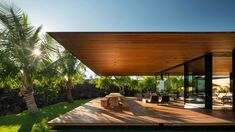 Architecture firm Olson Kundig has designed five pavilions with overhanging roofs to form this residence situated on a lava field in Hawaii. Cabinet D Architecture, Pavilion Architecture, Sustainable Architecture, Residential Architecture, Contemporary Architecture, Landscape Architecture, Minimalist Architecture, Amazing Architecture, Lava