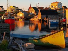 Nova Scotia, New Brunswick. maybe there'd be tourisits hiding under every upturned boat but its still marvellous Landscape Photos, Fantasy Landscape, Great Places, Places To See, Beautiful World, Beautiful Places, Ottawa, Atlantic Canada, Prince Edward Island