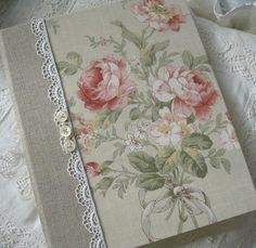 Vintage Shabby Chic Wedding Guest BookPhoto by Daisyblu on Etsy, $68.00