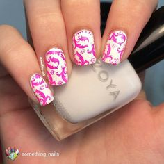 "repost via @instarepost20 from @something_nails Still Shot of my Neon Pink Stamping Mani! I really love how these turned out, saying this is only my second time stamping. I started off with a white base and used @pipedreampolish ""On The List"" for the stamping. The plate I used is by @bornprettystore called ""BP-L 005"" which has some pretty killer images on it! Go check out their store! Use my code ""THING10"" for ten percent off your entire order! Tutorial already posted, check my page if you…"