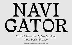 NAVIGATOR TYPEFACE on Behance