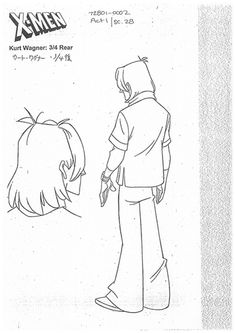 Concept Art and Character Sheets. Curated by Roho Character Model Sheet, Character Modeling, Coloring Pages For Kids, Coloring Books, X-men Evolution, Anatomy Drawing, Character Design Animation, Drawing Reference, Manga Anime