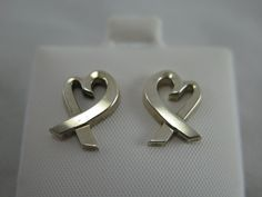 Sexy Authentic Tiffany & Co. Vintage  Paloma Picasso Loving Heart Pierced Earrings by Tiffanytreasureshop on Etsy