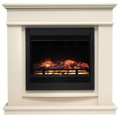 Avalon Cream Stone Finish Electric Fireplace Suite - Home Delivery Only. Height (mm): 1020 Width (mm): 1050 Depth (mm): 280 - £499
