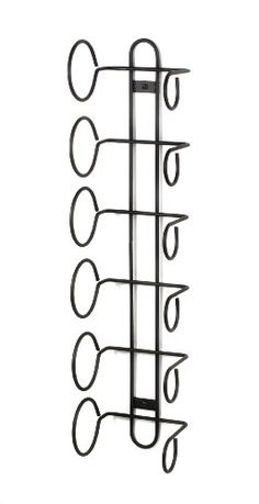 $17.14-$22.00 Spectrum 48810 Wall Mount Wine Rack, 6-Bottle, Black - Spectrum is a company that does the small stuff great. Their items are made of better plastics, heavier steel, thicker powder coating, and stronger castings. Spectrum inspects every piece before it leaves their factory, so you know you'll always get top quality products. This 6 Bottle Wine Rack by Spectrum mounts directly to th ...
