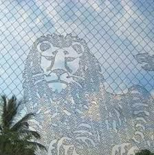 Αποτέλεσμα εικόνας για art made with chainlink fence