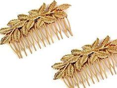 #Peinetas #hojasdoradas #vintage Precio 20€ el par, unidad 12€, envío incluido #España... #Horquilla #peineta #horquillas #tocados #outfit #novia #boda #nuvies #weddingstyle #weddinghair #invitadasperfectas #fashion #look #hair #peinetas #peinetadorada #tocado #hojasdoradas #EraseunavezunTocado #HairPieces #gold #shoponline #Spain