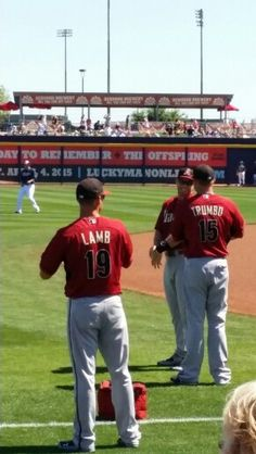 Jake Lamb and Mark Trumbo. Spring training game against the SD Padres.