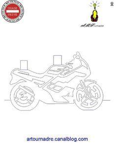 ART kirigami moto de profil