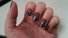 Taupe and metalic blue French style