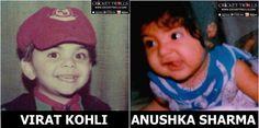 Childhood pic of Virat Kohli & Anushka Sharma Anushka Sharma Virat Kohli, Virat And Anushka, Bollywood Cinema, Bollywood Actors, Celebrity Couples, Celebrity Weddings, Badminton Photos, Latest Cricket News, Cricket Sport