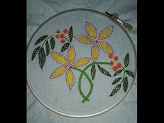 Easy hand embroidery with easy basic stitches - YouTube