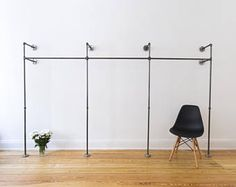 Clothes stand - open closet - wardrobe - clothing rail - industrial design - steel pipes - TWO x TWO Cute Home Decor, Diy Home Decor Projects, Rooms Home Decor, Bedroom Decor, Bedroom Ideas, Decor Ideas, Open Wardrobe, Wardrobe Clothing, Steel Wardrobe
