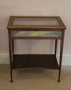 French Brass Inlaid Vitrine / Bijouterie Table in FURNITURE from Hand of Glory Antiques