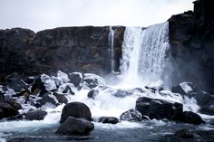 Waterfall at þingvellir, in Iceland Iceland Waterfalls, Island, Places, Outdoor, Photos, Pictures, Block Island, Islands, The Great Outdoors
