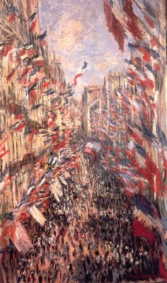 Claude Monet - Rue St-Denis, Holiday of June 30 1878. Enjolras fought here. Had he lived to see the day...