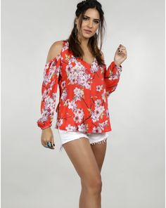 BLUSA M/L CEREJEIRA  TPML0196  MarketFashion