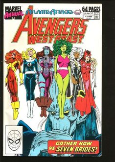 Avengers West Coast Annual #4 Marvel Comics 1989 ALL NEW VF-/VF or better #comicart