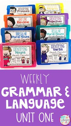How do you teach grammar with such limited time in the classroom? These simple grammar and language activities are very engaging, simple to prep and only take 10 minutes of class time each day! Unit one covers: nouns, verbs, adjectives, adverbs, pronouns and plural nouns.