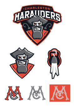 """Design by Centerfold for the Charleston Marauders, what Rebich calls """"a new team, in a new sport based on functional fitness, in a new league' the SAGL, that serves as the minor league team for the DC Brawlers in the NPGL."""