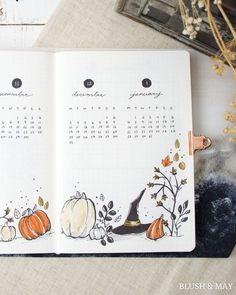 Discover recipes, home ideas, style inspiration and other ideas to try. Bullet Journal Notebook, Bullet Journal Themes, Bullet Journal Inspo, Bullet Journal Spread, Bullet Journal October Theme, Junk Journal, Autumn Bullet Journal, Bujo, Moleskine