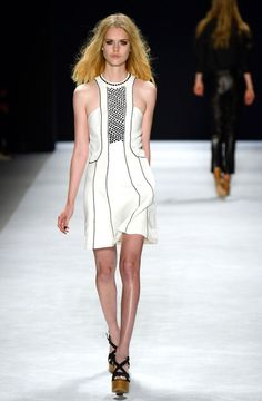 A model walks the runway at the Jill Stuart fashion show during Mercedes-Benz Fashion Week Spring 2014 at The Stage at Lincoln Center on September 7, 2013 in New York City.