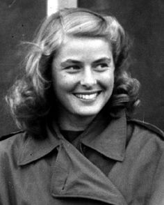 Can you get any more fresh-faced than this? Miss Ingrid Bergman, 1940