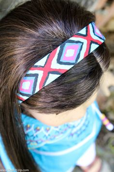Make a doll size wooden headband from a craft stick. A fun project for kids to paint!