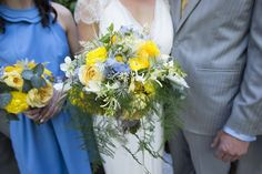 Vibrant yellows and icy blues and grays were the order of the day, with creamy white and wispy green mixed in
