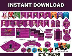 Discover and enjoy our party decorations, we offer the best solution for your kids parties! Festa Hotel Transylvania, Hotel Transylvania Birthday, Theme Hotel, Hotel Party, Cars Birthday Parties, Birthday Party Invitations, Olaf Summer Party, Halloween Birthday, 3rd Birthday