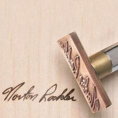 The shiznit! Signature Branding Iron - Torch heated - Rockler Woodworking Tools
