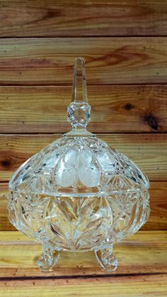Vintage Crystal Candy Bowl by ArtMaxAntiques on Etsy