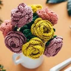 Crochet Flower Bouquet  | Commonthread by DMC
