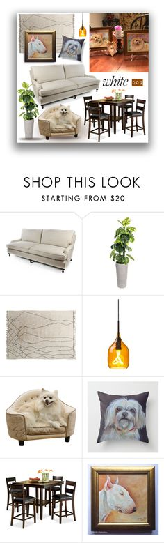 """White dog at home"" by canisartstudio ❤ liked on Polyvore featuring interior, interiors, interior design, home, home decor, interior decorating, MacKenzie-Childs, Laura Ashley, SCP and Pendleton"