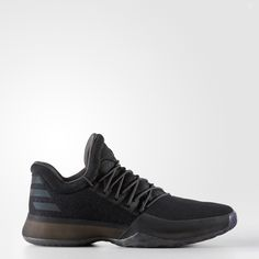 With a pull-up dagger from 30 feet away, James Harden can drain hoops and win games in the crucial final moments. These basketball shoes are designed for his style of play. They have an all-black upper with Xeno reflective 3-Stripes on the heel that revea