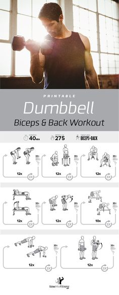 Dumbbell Biceps and Back Workout | Posted by: CustomWeightLossTips.com
