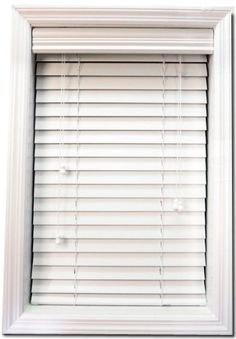 """White Faux Wood Blinds-2 inch slats (Made-to-measure sizes ) by BlindsOnLine.com. $37.35. 2 inch White Faux Wood Blinds Take advantage of this super low price on a quality 2"""" """"Wood Look"""" blind. Standard controls only, cord tilter on left, lift cord on right. A deocorative valance is included with each blind. These blinds ship from the factory in about 3 business days custom made to your specifications. Limited Lifetime Warranty."""