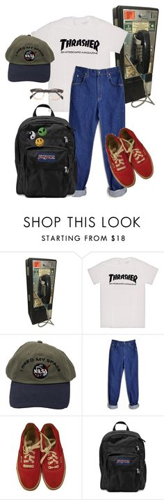 """""""payphone"""" by duderanch ❤ liked on Polyvore featuring Vans, JanSport, indie, Punk, grunge, art and aesthetic"""