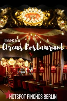 Ever dreamed of having dinner in a circus? Well now your dream can come true at Pinchos Berlin! The concept is fantastic, the theming is great and the food and drinks delicious. This is a must when you want to have diner in Berlin! Europe Destinations, Europe Travel Tips, Travel And Leisure, Travel Goals, Berlin, Unique Restaurants, Thing 1, Circus Theme, Worldwide Travel